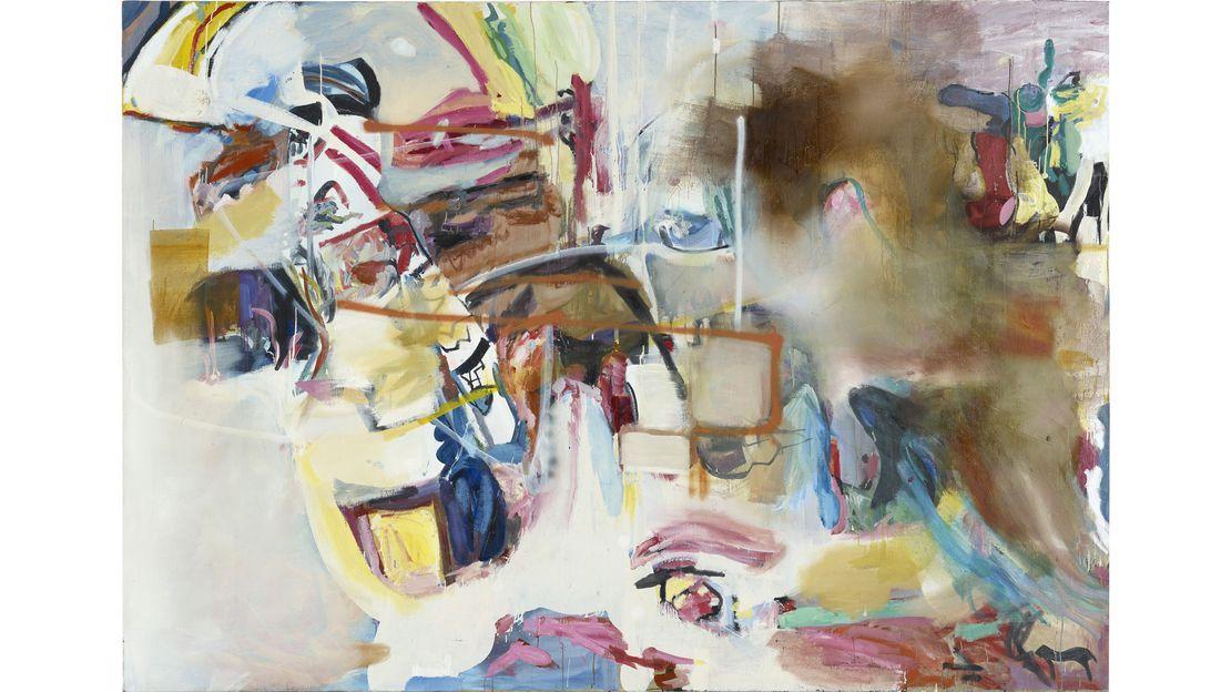 Albert Oehlen, Senza titolo, 2005 / 1997, olio su tela, 210 x 300 cm