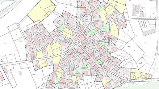 Planauschnitt Ortsplanung Castrisch